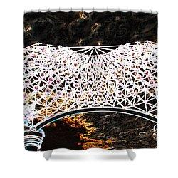 Shower Curtain featuring the photograph Gazebo 4 by Minnie Lippiatt