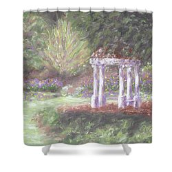 Gazebo At Hopelands In Spring Shower Curtain