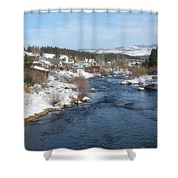 Gazing Over The Truckee River Shower Curtain