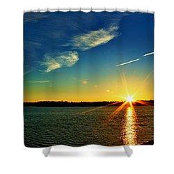Gc Lake Sunrise Shower Curtain