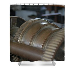 Gears Of Progress Shower Curtain