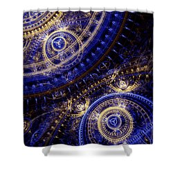 Gears Of Time Shower Curtain