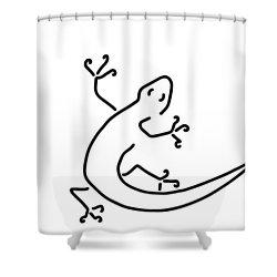 Gecko Salamander Salamander Bionics Shower Curtain by Lineamentum