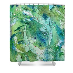 Geckos At Play Shower Curtain