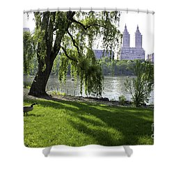 Geese In Central Park Nyc Shower Curtain