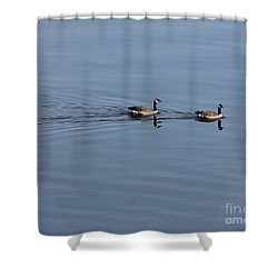 Geese Reflected Shower Curtain