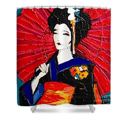 Geisha Shower Curtain by Mona Edulesco