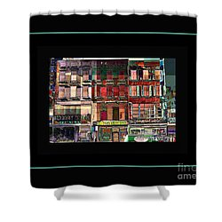 Gem Collection - New York In 1975 - Print Or Card Shower Curtain by Miriam Danar