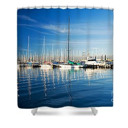 Gem Pier Of Williamstown Shower Curtain by Yew Kwang