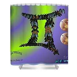 Shower Curtain featuring the digital art Gemini by The Art of Alice Terrill