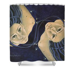 Gemini From Zodiac Series Shower Curtain by Dorina  Costras