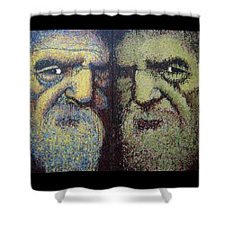 Gemini Shower Curtain by Kate Tesch