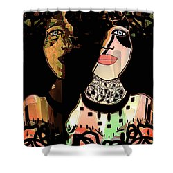 Gemini Shower Curtain by Natalie Holland
