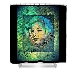 Shower Curtain featuring the digital art Gena Rowlands by Absinthe Art By Michelle LeAnn Scott