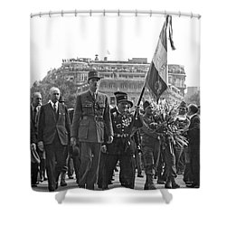 General Charles De Gaulle Shower Curtain by Underwood Archives