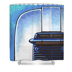 General Electric Toaster - Blue Shower Curtain