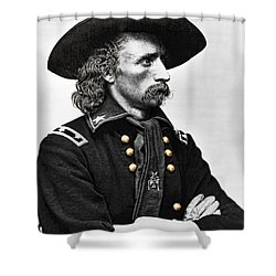 General George Armstrong Custer  Shower Curtain by Daniel Hagerman
