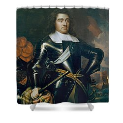 General George Monk 1st Duke Shower Curtain by Samuel Cooper