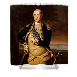 General George Washington  Shower Curtain by War Is Hell Store