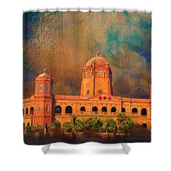 General Post Office Lahore Shower Curtain by Catf