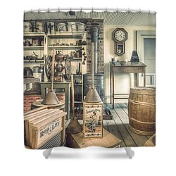 Shower Curtain featuring the photograph General Store - 19th Century Seaport Village by Gary Heller