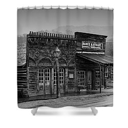 General Store Virginia City Montana Shower Curtain by Thomas Woolworth