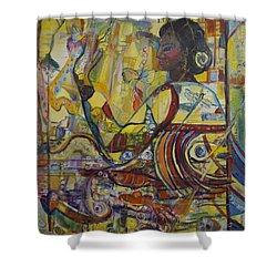 Genes Shower Curtain by Avonelle Kelsey