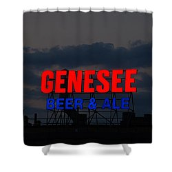 Genesee Beer And Ale Shower Curtain