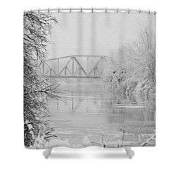 Genesee River Shower Curtain