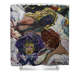 Shower Curtain featuring the painting Wind Whisperers  by Avonelle Kelsey