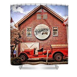 Geneva On The Lake Firehouse Shower Curtain