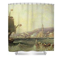 Genoa Shower Curtain by John Wilson Carmichael