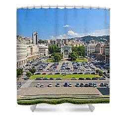 Genova - Piazza Della Vittoria Overview Shower Curtain