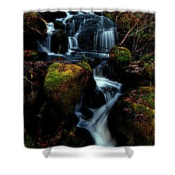 Shower Curtain featuring the photograph Gentle Descent by Jeremy Rhoades