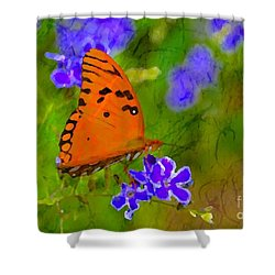 Shower Curtain featuring the photograph Gentle Landing by Darla Wood