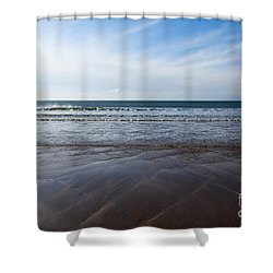 Gentle Waves Shower Curtain by Anne Gilbert