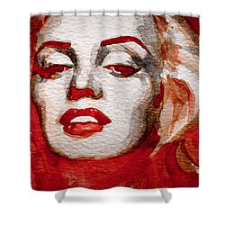 Shower Curtain featuring the painting Gentlemens Prefer Blondes by Laur Iduc