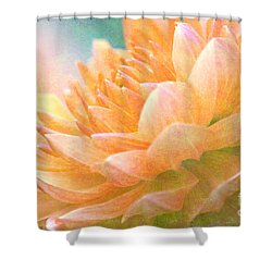 Gently Textured Dahlia  Shower Curtain