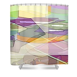 Shower Curtain featuring the digital art Geo-art by Cathy Anderson