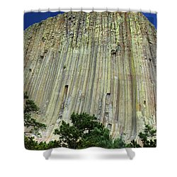 Geology Triptych - Two Shower Curtain