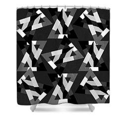 Geometric 12 Shower Curtain by Mark Ashkenazi