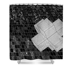 Geometric Abstract Shower Curtain by Jack Zulli
