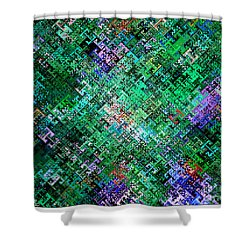 Geometric Abstract Shower Curtain by Mariarosa Rockefeller