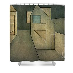 Geometric Abstraction II Shower Curtain