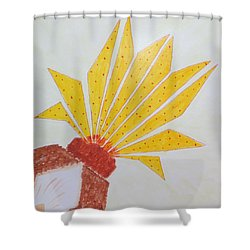 Shower Curtain featuring the painting Geometric Blooming Lotus by Sonali Gangane