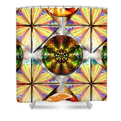 Geometric Dreamland Shower Curtain
