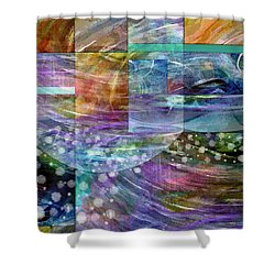 Geometric Winter Shower Curtain