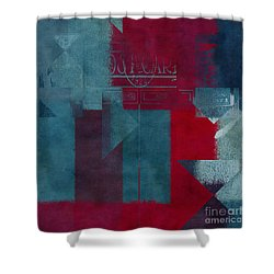 Geomix 03 - S330d05t2b2 Shower Curtain by Variance Collections