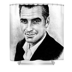 George Clooney Shower Curtain by Andrew Read