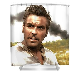 George Clooney In The Film O Brother Where Art Thou Shower Curtain